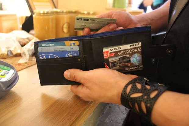 chic made consciously ethically made wallet made from truck tire inner tubes