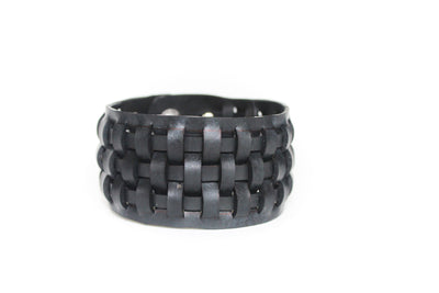 chic made consciously eco friendly unisex bracelet made from repurposed tire iner tubes