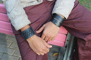 chic made consciously sustainable unisex bracelet made from tire inner tubes