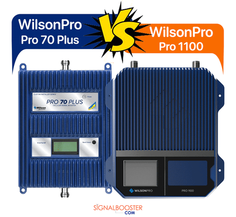 Compare WilsonPro's Pro 1100 vs. Pro 70 Plus by Wilson Electronics