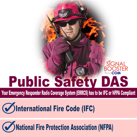 Public Safety DAS has to be IFC or NFPA Compliant