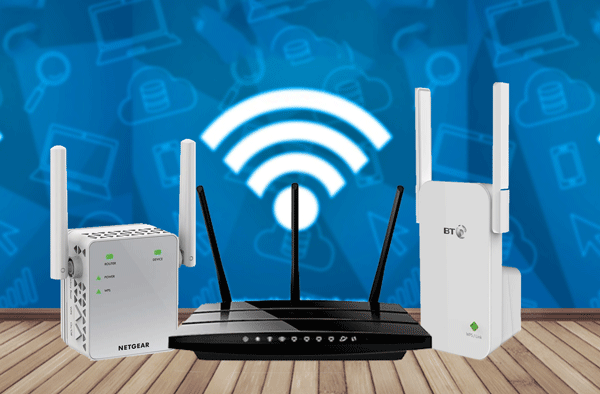 Works with Any Router WiFi Range Extender Wireless Repeater Wi-Fi Internet Signal Booster for Home Superboost WiFi Blast 2.4GHz WLAN Amplifier WiFi Dongle with High Gain External Dual Antennas