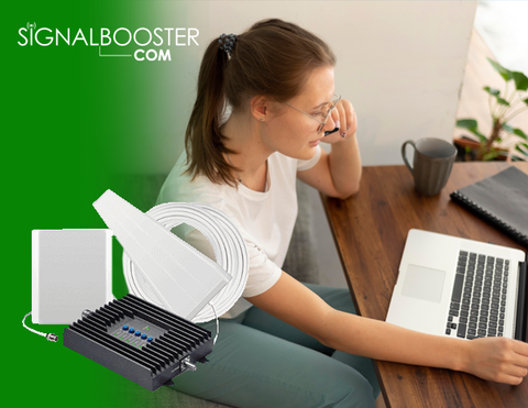 Work From Home Efficiently with a Cell Phone Signal Booster