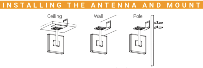 Cel-Fi Antenna Mount Install Diagram