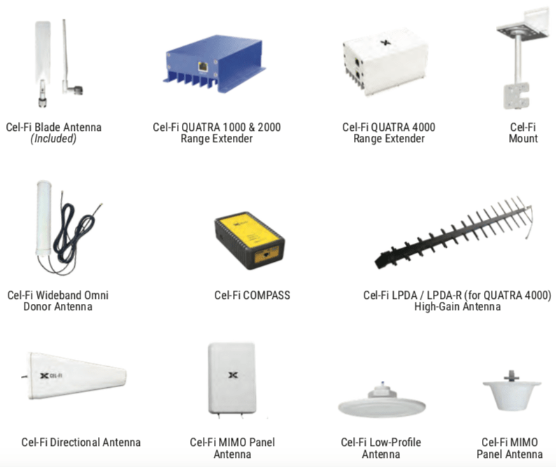 CelFi Quatra Products Accessories