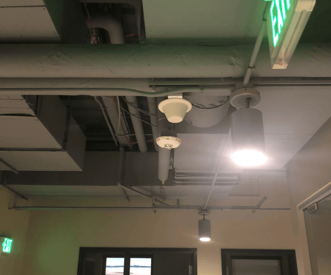 Inbuilding Signal Broadcast Ceiling Antenna Installed Professionally