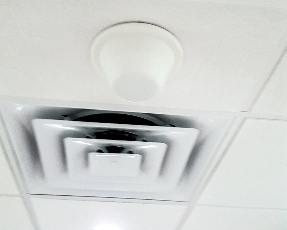 Indoor Signal Broadcast Ceiling Antenna Installed Professionally.