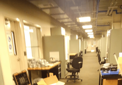 Long Hallway with Office Cubicles