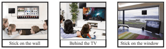 Versatile: Mount TV Antenna Practically Anywhere