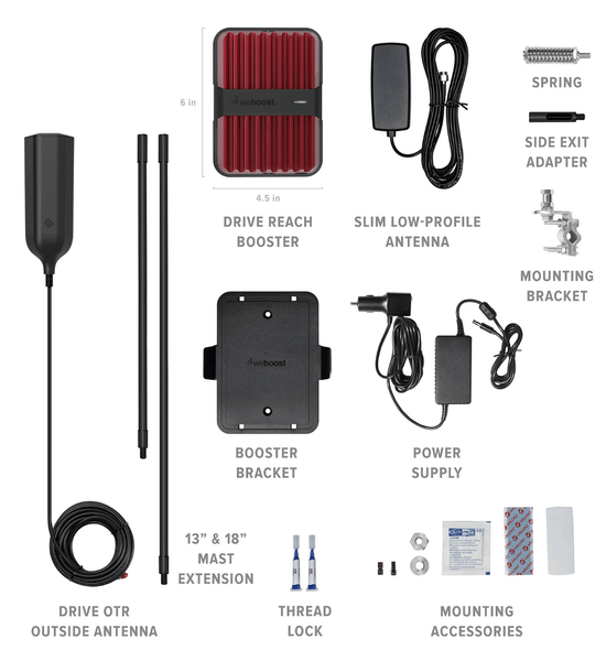 Parts Included in weBoost Drive Reach OTR