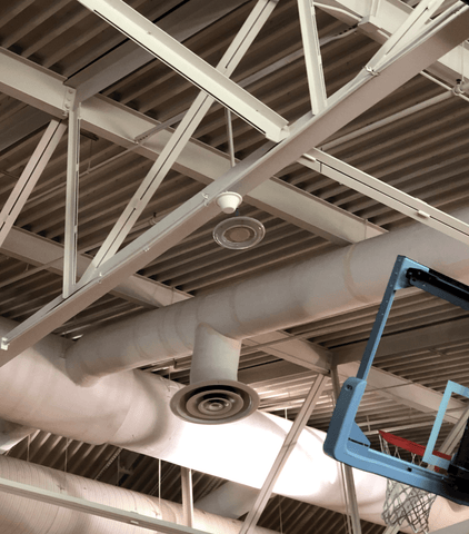 Rugged Indoor Signal Broadcast Ceiling Antenna Installed