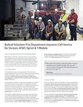 Signal Booster Helps Buford Volunteer Fire Department Improve Cell Service.