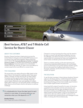 Signal Booster Helps Storm Chaser In Weak Signal Areas.