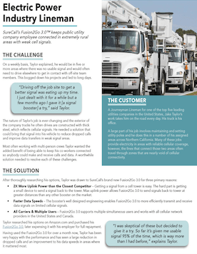 Signal Booster Helps Utility Company Truck Stay Connected In Extremely Rural Areas.