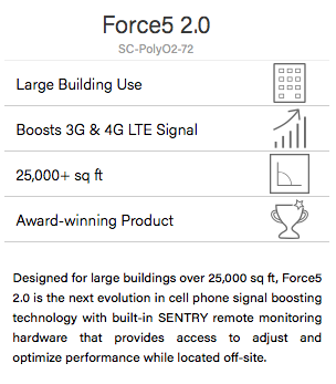 SureCall Force 5 2.0 Cell Phone Signal Booster