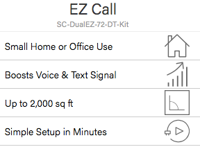 Sure Call EZCALL Cell Phone Signal Booster