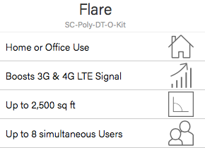 Sure Call Flare Cell Phone Signal Booster