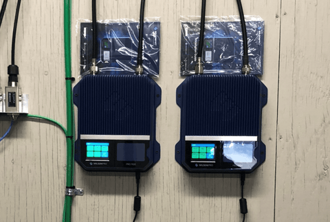 View of Commercial Cell Signal Amplifiers Installed