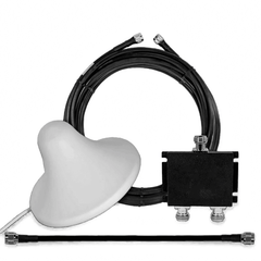 1 Indoor Dome Antenna 50 Ohm with 2-way Splitter and Cable
