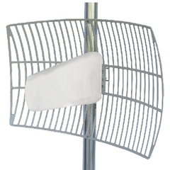 AFCALG0727G12NFS7 - 12 dBi Log Periodic/ Yagi Antenna with Metal Reflector Grid (50 Ohm)