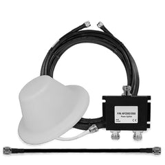 1 Interior Ceiling Mount 50 Ohm Dome Antenna w/2-way Splitter & Cables