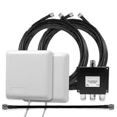 2 Inside Building Panel Antennas (50 Ohm) with 3-way Splitter & Cables