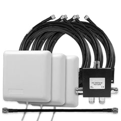 3 Inside Building Panel Antennae (50 Ohm) with 4-way Splitter & Cables