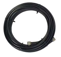10' SureCall 400 Coaxial Cable with N-Male Connectors (Black Ten Feet Coax Cables)