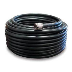 100' SureCall 400 Coaxial Cable with N-Male Connectors (Black Hundred Feet Coax Cables)