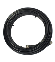30' SureCall 400 Coaxial Cable with N-Male Connector (Black Thirty Feet Coax Cables)