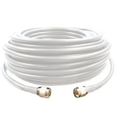 100' SureCall 400 Coaxial Cable with N-Male Connectors (White Hundred Feet Coax Cables)