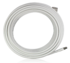 5 ft. SureCall 240 White Cable w/ FME-Male & FME-Female connectors