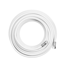20' RG-6 Coaxial Cable with F-Male Connector (White Twenty Feet Coax Cables)