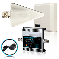 Smooth-Talker Extreme Power Stealth X6 72 or 70 dB 14,000 Ft² 3G 4G LTE 6 Band Building Signal Booster w/ Yagi & Panel High Gain Directional Antennas