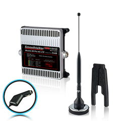 SmoothTalker Mobile X6 Pro 50 or 53 dB Car/ Truck Cell Signal Booster (3G, 4G, LTE, 6 Band) w/ 11 in. Magnet Antenna