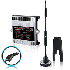 SmoothTalker Mobile X6 Pro 53 dB or 50 dB Car/ Truck Cell Signal Booster (3G, 4G, LTE, 6 Band) w/ 14 in. Magnet Antenna