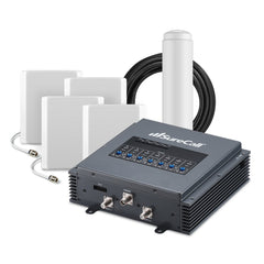 SureCall Fusion 7 Cellular, HD-TV, Wi Fi Signal Booster w/ 4 Panel Antennas for 20k Sq. Ft.