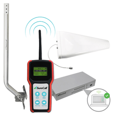 SureCall Signal Booster Installer Site Survey Kit with Signal Meter, Antenna, Pole, Monitor
