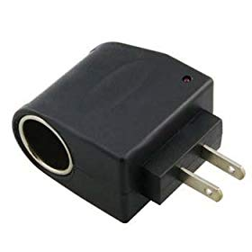 Universal 110V AC to DC 12V Converter with Car Adapter Socket