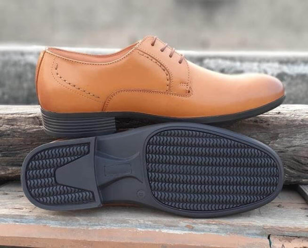 Walker Styleways Admirable Rich Tan Leather Derby Lace up Wide Shoes