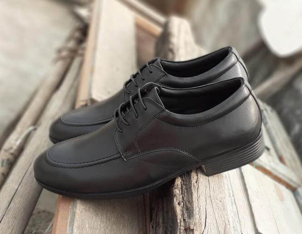 Walker Styleways Exceptional Epic Black Leather Derby Lace up Shoes - Custom Made