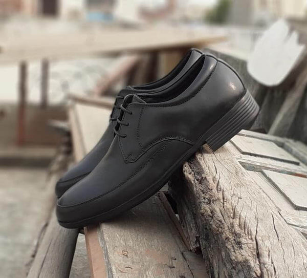 Walker Styleways Supreme Epic Black Leather Derby Lace up Narrow Shoes