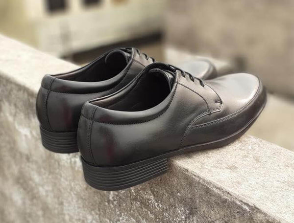 Walker Styleways Supreme Epic Black Leather Derby Lace up Big Shoes