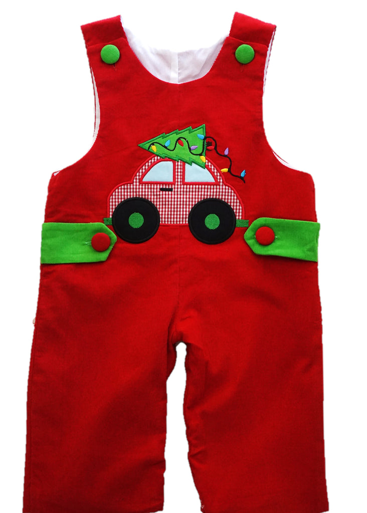 Corduroy Christmas Car Applique Longall
