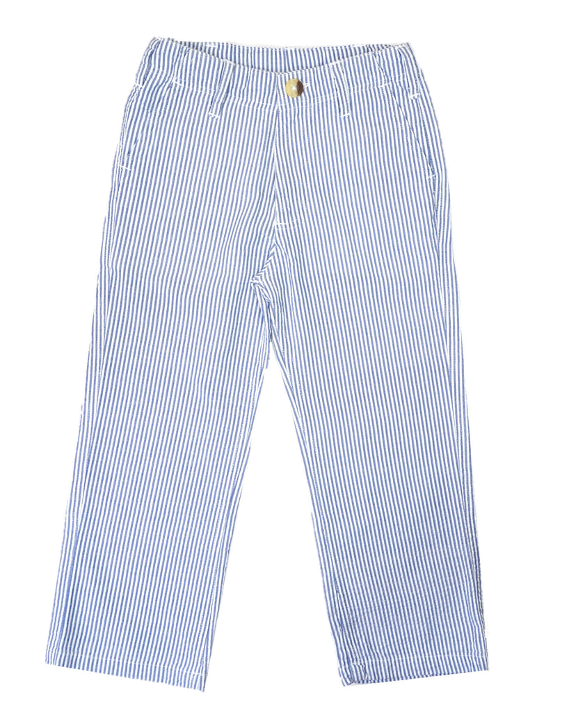 Jack Thomas Blue Seersucker Pants