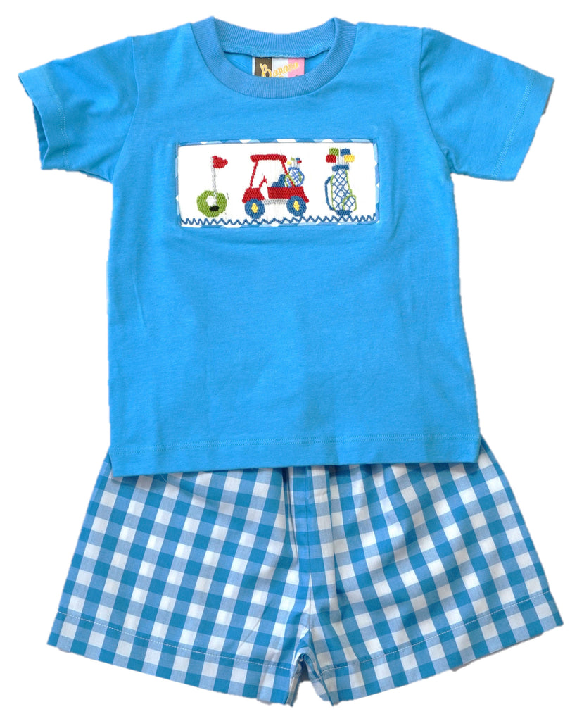 Smocked Golf Short Set