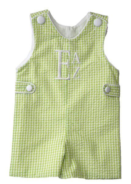 Lime Gingham Jon Jon
