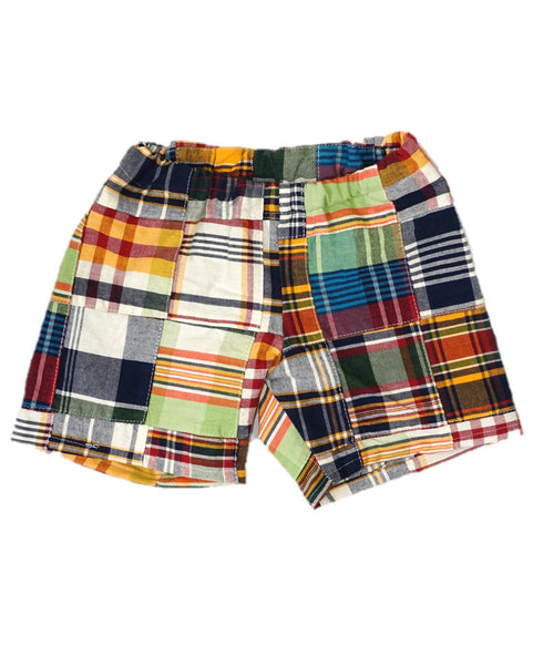 Soda City Pull On Patchwork Shorts