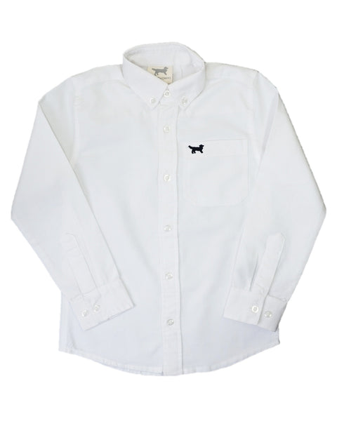 Jack Thomas White Oxford Dress Shirt