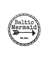 Baltic Mermaid Logo black and white round this lettering